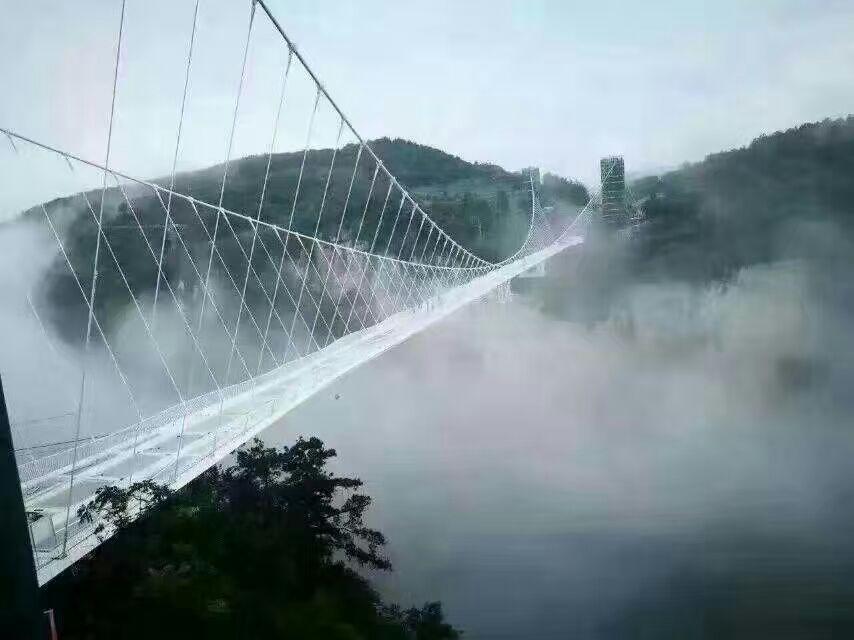 张家界玻璃桥8月20日试营业,日限8千人
